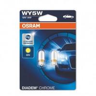 Лампы накаливания OSRAM WY5W 12V 5W W2.1x9.5d DIADEM Chrome (2827DC-BLI2)