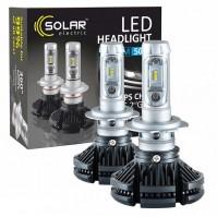 Светодиодные лампы H7 SOLAR 12/24V 6000Lm 6000K 50W Philips ZES (8807)