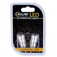 Светодиодные LED автолампы SOLAR Premium Line 24V T8.5 BA9s 1SMD 1W white блистер 2шт (SL2533)