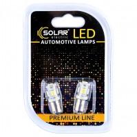 Светодиодные LED автолампы SOLAR Premium Line 24V T8.5 BA9s 5SMD 5050 white блистер 2шт (SL2531)