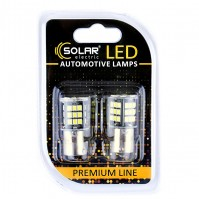 Светодиодные LED автолампы SOLAR Premium Line 12V S25 BA15s 48SMD 2835 CANBUS white блистер 2шт (SL1389)