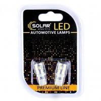 Светодиодные LED автолампы SOLAR Premium Line 12V T10 W2.1x9.5d 12SMD 3014 white блистер 2шт (SL1334)