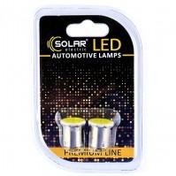 Светодиодные LED автолампы SOLAR Premium Line 24V G18.5 BA15s 1COB white блистер 2шт (SL2582)