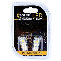 Светодиодные LED автолампы SOLAR Premium Line 24V T10 W2.1x9.5d 5SMD 5050 white блистер 2шт (SL2530)
