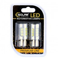 Светодиодные LED автолампы SOLAR Premium Line 12-24V S25 BA15s 27SMD 2835 CANBUS Non-Polar white блистер 2шт (SL1395)