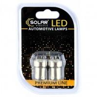 Светодиодные LED автолампы SOLAR Premium Line 12V G18.5 BA15s 8SMD 2535 white блистер 2шт (SL1380)