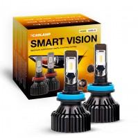 Светодиодные автолампы H11 CARLAMP Smart Vision Led для авто 8000 Lm 4000 K (SM11Y)