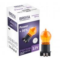 Галогеновая лампа Brevia PWY24W 12V 24W WP3,3x14,5/4 AMBER Power +30% CP  (12228C)