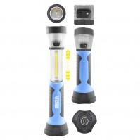 Фонарь для СТО для охоты для рыбалки светодиодный Brevia  3W COB+1W LED+8LED телескоп 300lm 2000mAh (11330)
