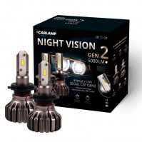 Светодиодные автолампы H7 Carlamp Led Night Vision Gen2 Led для авто 5000 Lm 5500 K (NVGH7)
