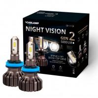 Светодиодные лампы H11 Carlamp LED Night Vision Gen2 Led для авто 5500 K 5000 Лм (NVGH11)