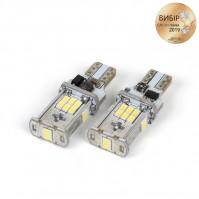 Светодиодная лампочка Carlamp 400Лм 9-16В 6000К W16W (5K18-T15-W)
