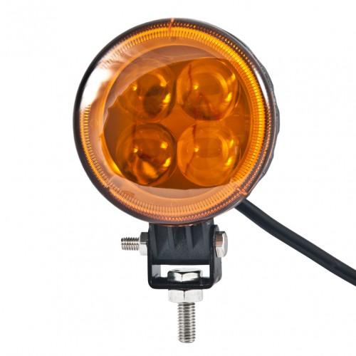 Доп LED фара BELAUTO BOL0403LA 800Лм (точечный янтарный)