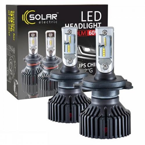 Светодиодные лампы SOLAR H4 12/24V 6000K 8000Lm 60W Philips ZES (8304)