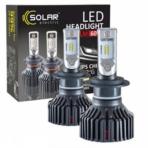 Светодиодные лампы H7 SOLAR Led 12/24V 6000K 8000Lm 60W Philips ZES (8307)