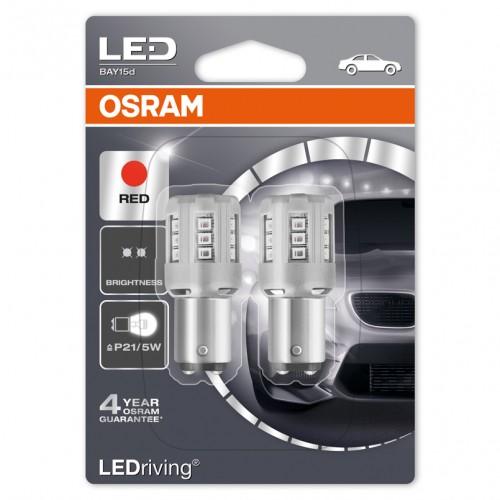 Светодиодные лампы Osram P21/5W RED 12V (1457R-BLI2)