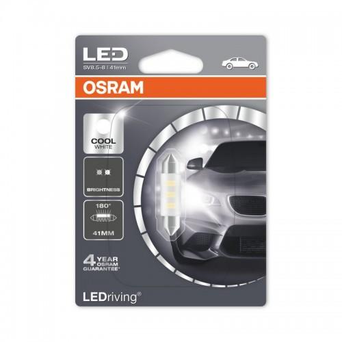 Светодиодная лампа OSRAM 1W 12V SV8.5-8 6700K 41 мм LEDriving STANDARD (6441SW-BLI)