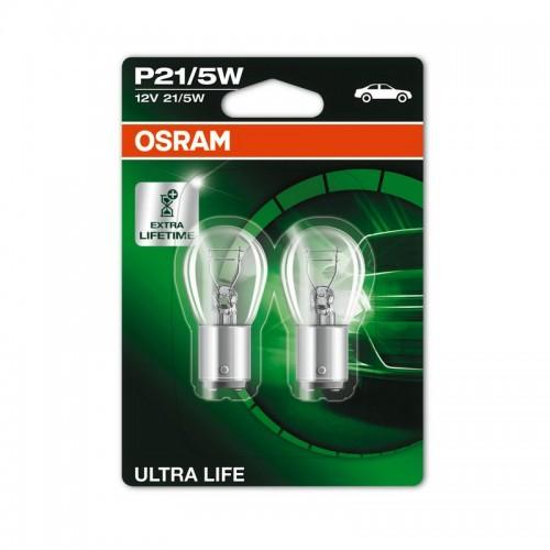 Лампы накаливания OSRAM P21/5W 12V BAY15d ULTRA LIFE (7528ULT-BLI2)