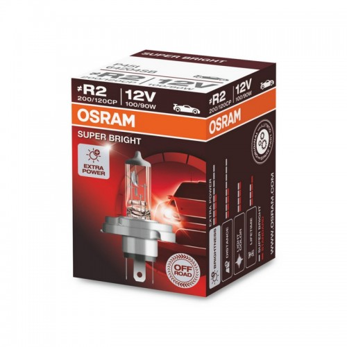 Галогенная лампа OSRAM R2 12V 100/90W P45t SUPER BRIGHT (64204SB-FS)