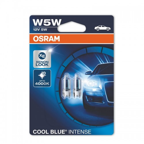 Лампы накаливания OSRAM W5W 12V 5W W2.1x9.5d COOL BLUE INTENSE (2825HCBI-BLI2)