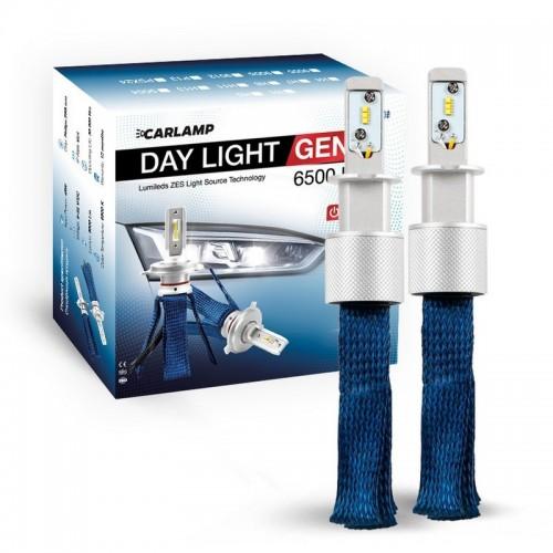 Светодиодные атволампы H3 6000K 6500Lm ZES CARLAMP Day Light GEN2 (DLGH3)