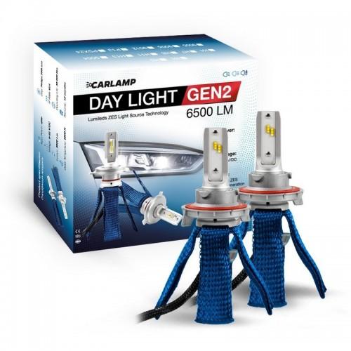 Светодиодные автолампы H13 CARLAMP Day Light GEN2 Led для авто 6500Lm 6000K (DLGH13)
