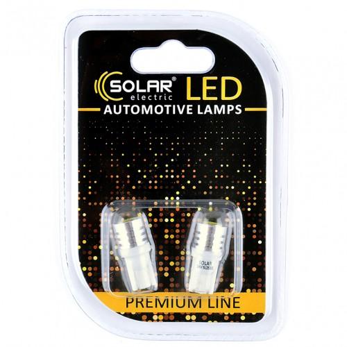 Светодиодные LED автолампы SOLAR Premium Line 24V T10 W2.1x9.5d 1SMD 1W white блистер 2шт (SL2532)