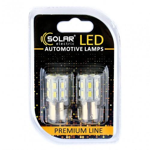 Светодиодные LED автолампы SOLAR Premium Line 12V S25 BA15s 20SMD 5730 white блистер 2шт (SL1387)