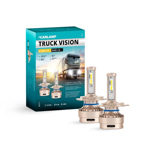 Светодиодные лампы H4 Carlamp Truck Vision Led для грузовых авто 24В 3500LM 6000K (TVH4)
