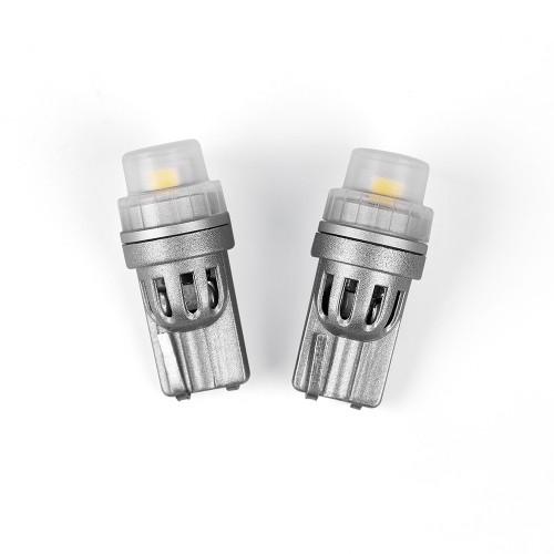 Светодиодные лампы Carlamp W5W Canbus 6000 K, 300 Ln для габаритов с обманкой (GST-T10)