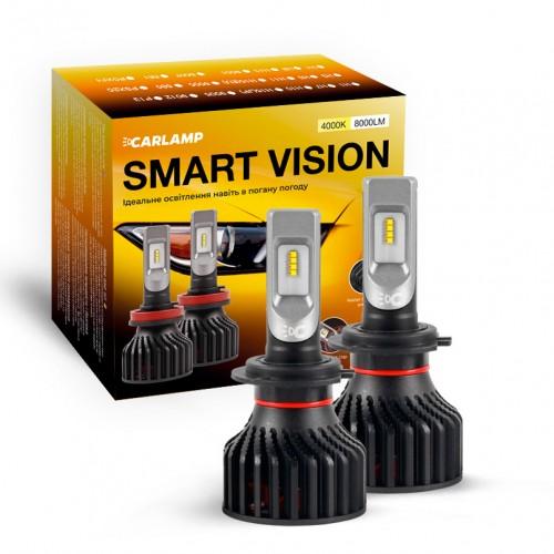 Светодиодные автолампы H7 CARLAMP Smart Vision Led для авто 8000 Lm 4000 K (SM7Y)