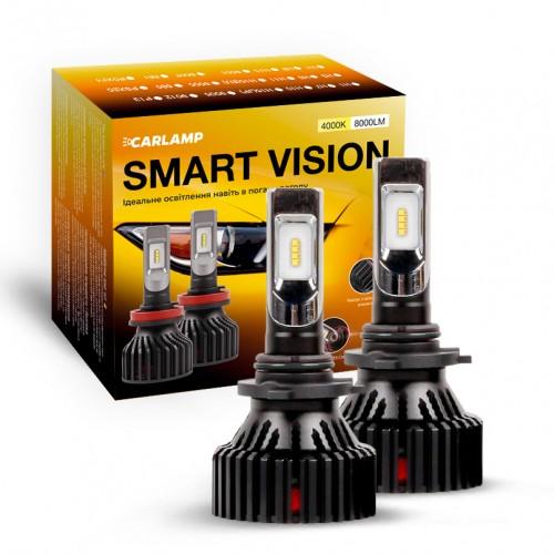 Светодиодные автолампы HB4 CARLAMP Smart Vision Led для авто 8000 Lm 4000 K (SM9006Y)