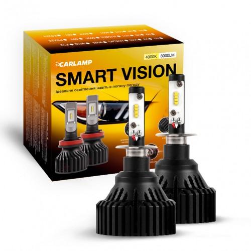 Светодиодные автолампы H3 CARLAMP LED Smart Vision Led для авто 4000 K 8000 Lm (SM3Y)