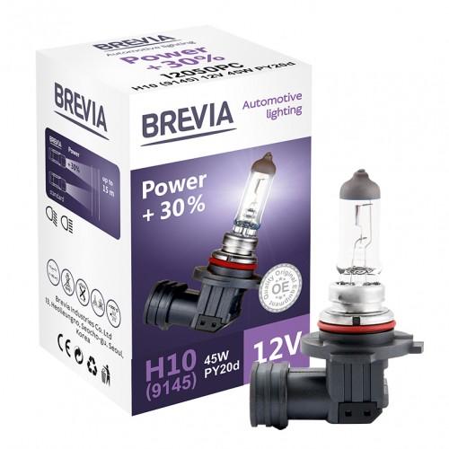 Галогеновые лампы Brevia  H10 (9145) 12V 45W PY20d Power +30% CP (12050PC)