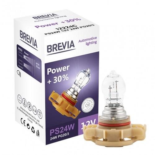Галогеновые Лампы  Brevia PS24W 12V 24W PG20/3 Power +30% CP (12224С)