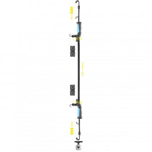 Фонарь для СТО 120-190см Brevia LED 40SMD 1000lm 4000mAh (11430)