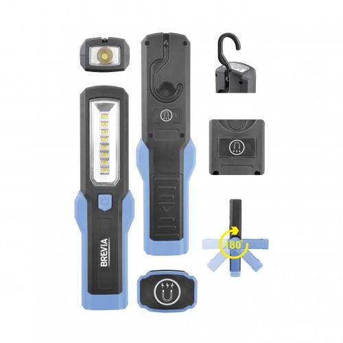 Фонарь для СТО светодиодный для охоты для рыбалки Brevia 8SMD+1W LED 300lm (11310)
