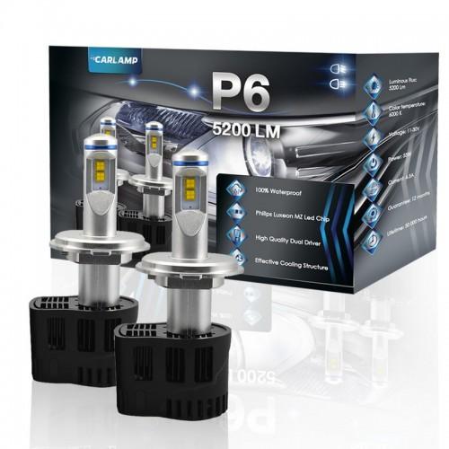 Светодиодные автолампы H4 CARLAMP P6 Led для авто 5200 Lm 6000 K (P6H4)
