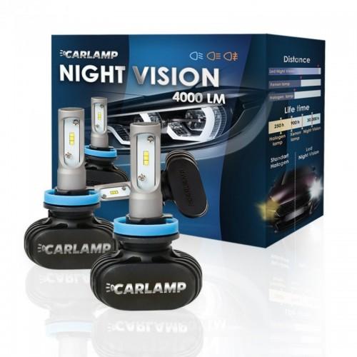 Светодиодные автолампы CARLAMP Night Vision HB4 5000 K (NVHB4(9006))