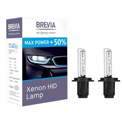 Ксеноновые лампы BREVIA H7 5000K Max Power +50% (12750MP)