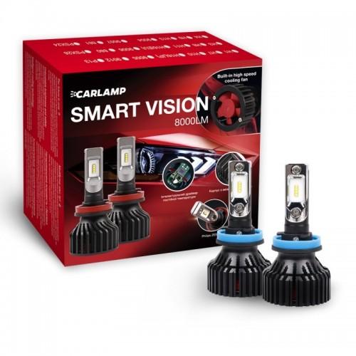 Светодиодные автолампы H11 CARLAMP Smart Vision Led для авто 8000 Lm 6500 K (SM11)