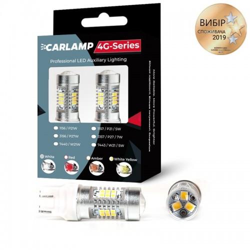 Светодиодные автолампы CARLAMP 4G-Series W21/5W-T20 RED (4G21/7443Red)